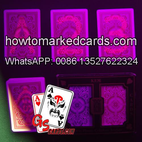 KEM Arrow tamaño del bridge tarjetas de póquer infrarrojas