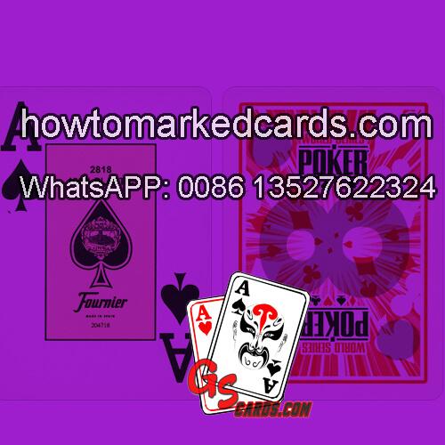 Fournier WSOP marcas infrarrojas tarjetas