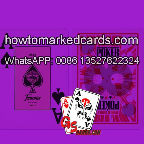 Fournier WSOP Infrarot Markierungen Karten