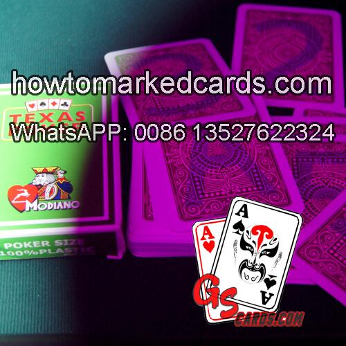 Modiano Texas Holdem leuchtende Spielkarten
