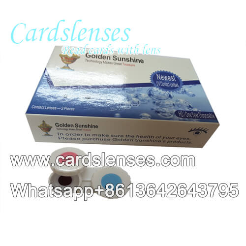 Oxygenous marked cards UV contact lenses