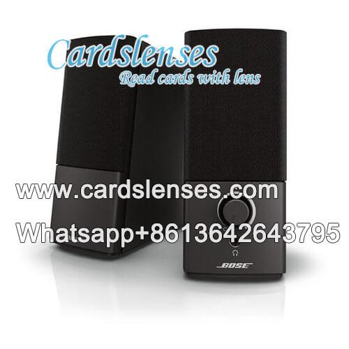 Scanner de alto-falante para truque de cartões