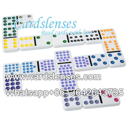 Tinta invisible luminoso dobles doce puntos del color marcados dominó