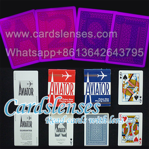 Aviator playing cards with luminous markings