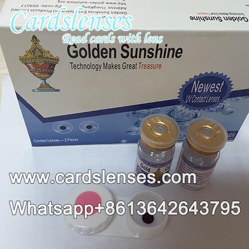 Cor azul lentes de contato para cartas de poker marcadas