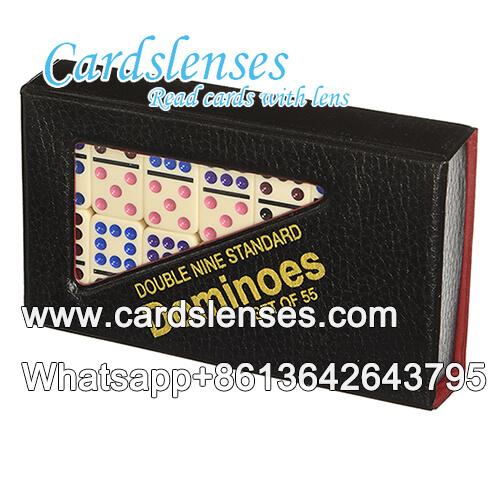 IR tinta invisível duplas 9 pontos coloridos dominó marcado