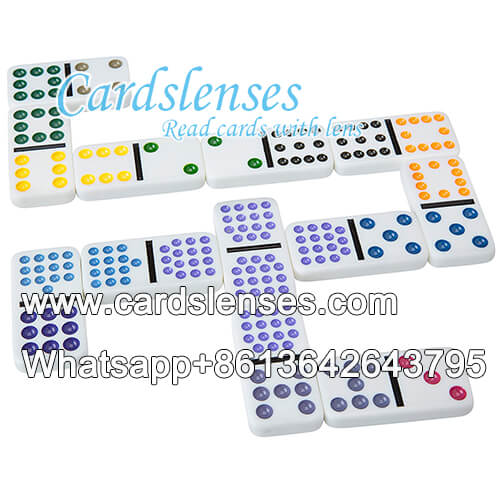back marked double twelve color dots dominoes