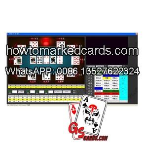 poker de código de barras luminosas analizador de fondo