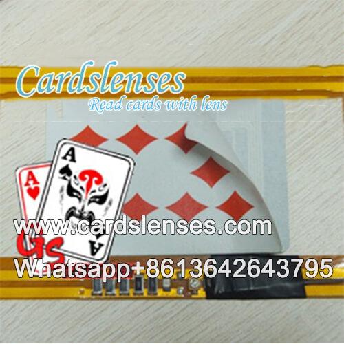 Baraja de papel del sensor de tarjetas en juegos de cartas de póquer