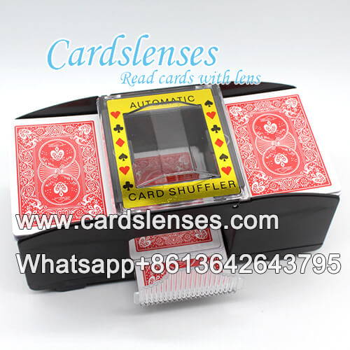barcode marked cards scanning camera shuffler