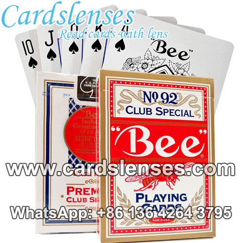 Bee No.92 invisible marking cheat poker decks for contact lenses