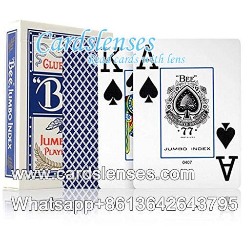 bee club special no77 jumbo index blue playing cards