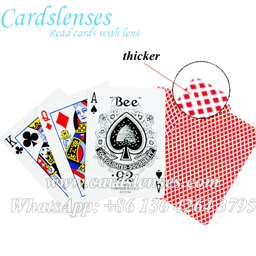 bee marked poker cards with visible cards marking