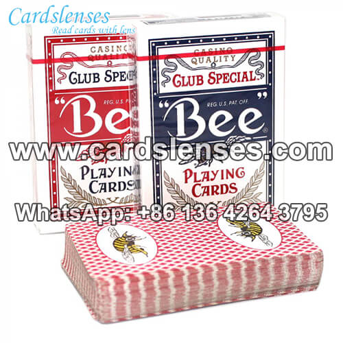 bee pincochle marked playing cards for infrared contact lenses
