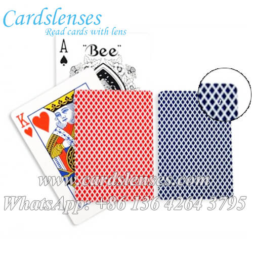 bee standard index marked playing cards for poker games