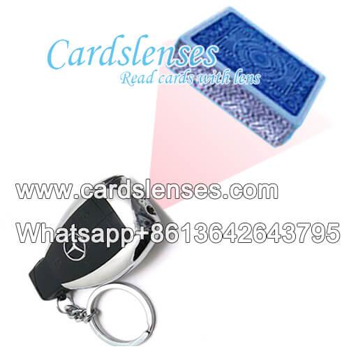 Benz chiave dell automobile segnato carte da poker scanner
