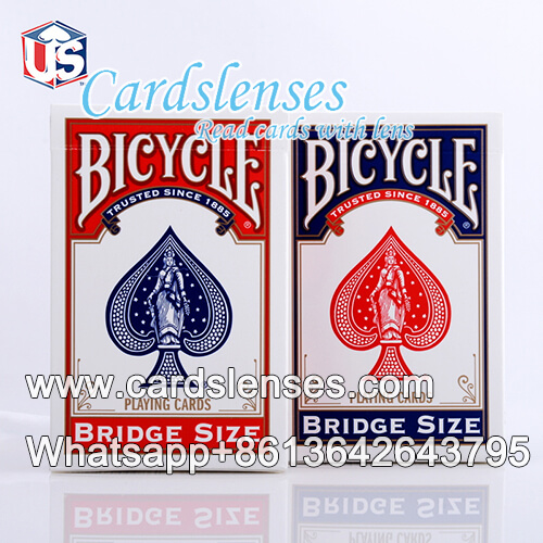 bicycle bridge size standard face blue playing cards