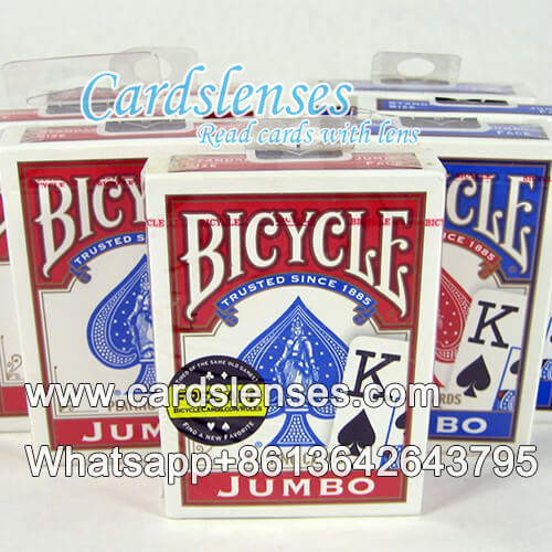 bicycle jumbo face blue single deck