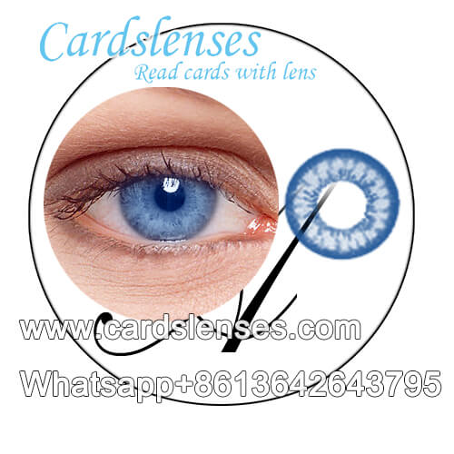 blue color marked playing cards contact lenses