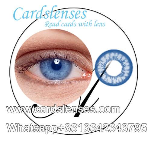Blaue Farbe kontaktlinsen die unsichtbare tinte sehen