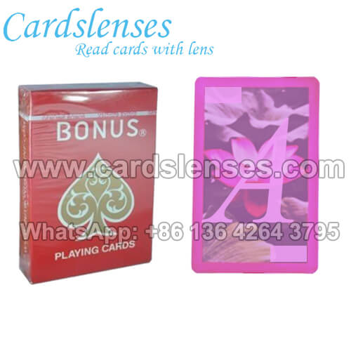 bonus invisible ink marked playing cards for ir contact lenses