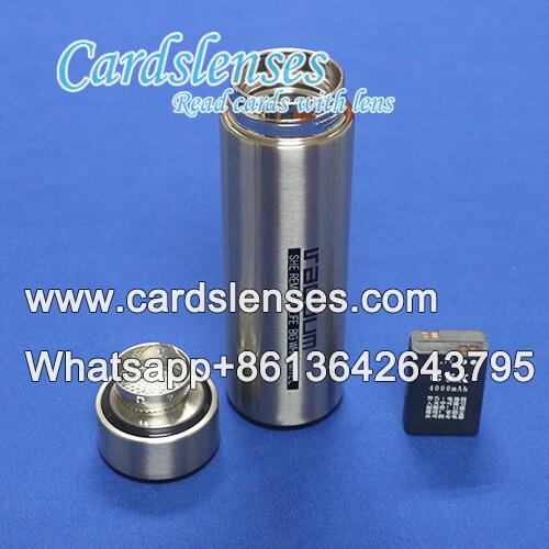 Escáner de póquer cámara de la botella de agua