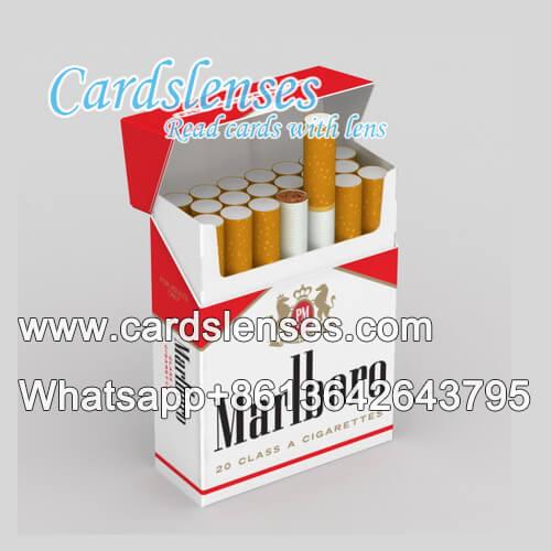 Caja de cigarrillos con cámara de escaneado