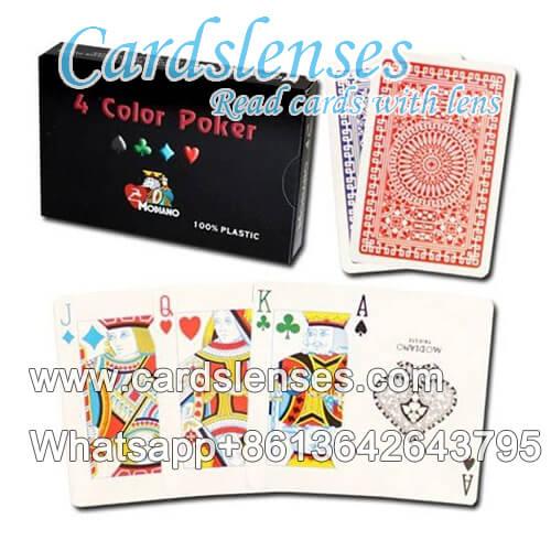 Cartões marcados Modiano 4 cartões de plástico a cores