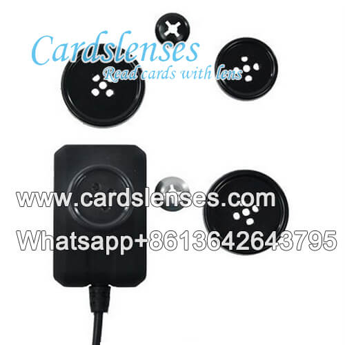 cheating coat button scanning camera for barcode poker