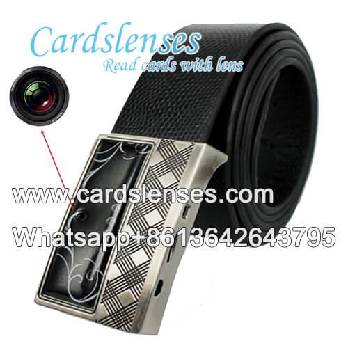 escáner de cinturón de cuero para el póquer