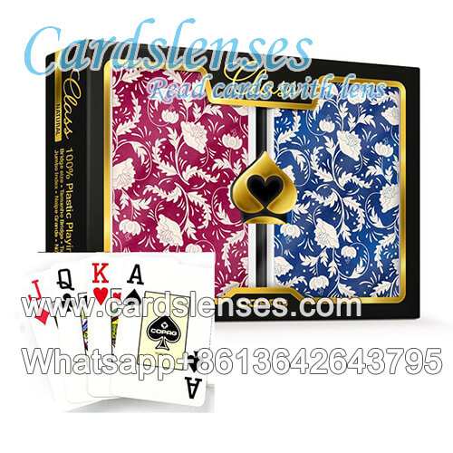 class natural invisible copag cards deck