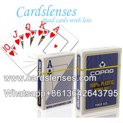copag jumbo face and regular face poker cards