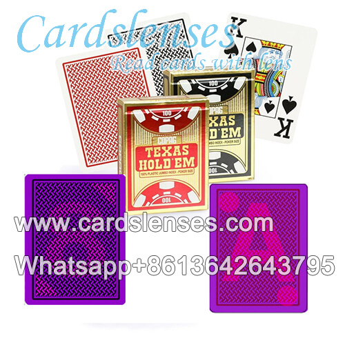 Copag Texas Holdem Jumbo Index poker marcado luminosa