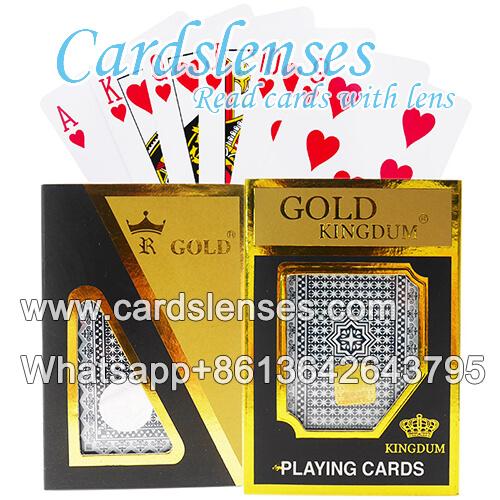 Corea corona de oro baraja de cartas marcada