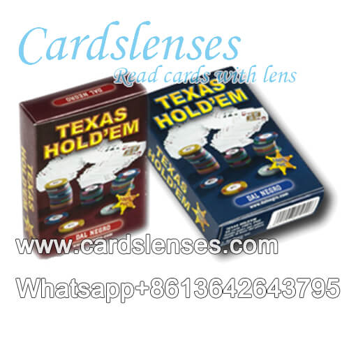 Italia dal negro Texas Holdem baraja marcada