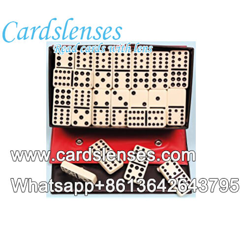 Duplo 12 pip preto tinta invisível marcada dominó para venda