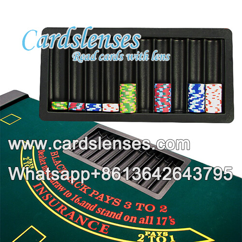 double poker scanners 500 chips tray