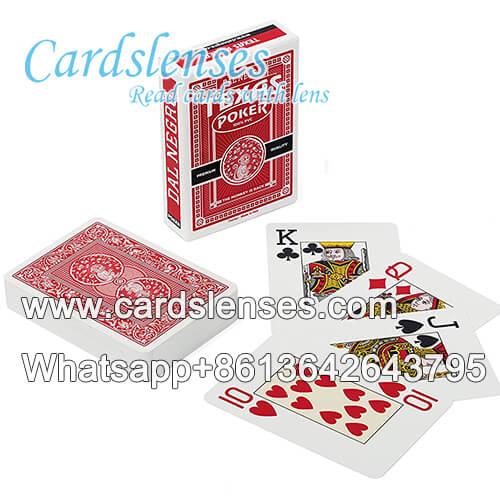 Dal Negro codice a barre a infrarossi segnando le carte da poker