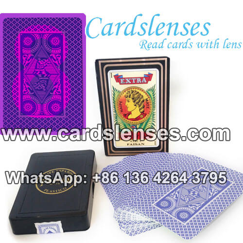 faisan marked poker cards for uv contact lenses