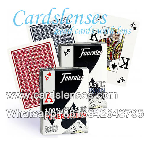 fournier poker vision marked cards for contact lens