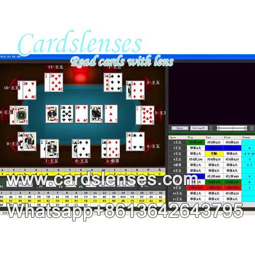 analisador de fundo de poquer de codigo de barras luminoso