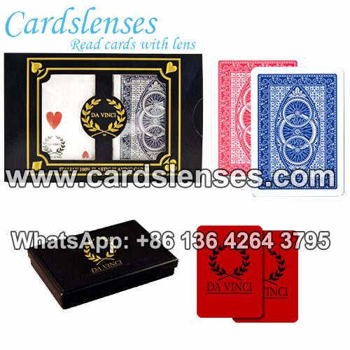high quality da vinci marked playing cards