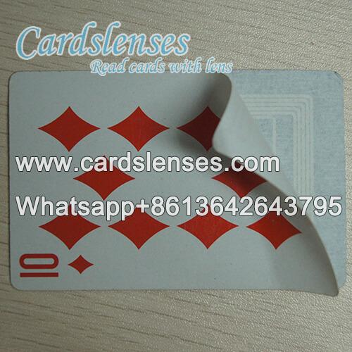 Sensor de papel de baralho em baralho marcado poker