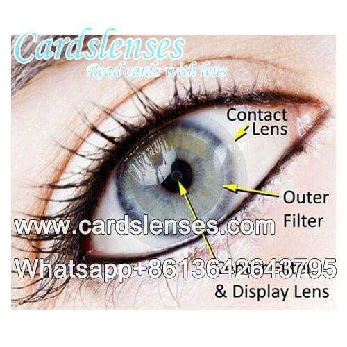 profissional baralho marcado lente de contato