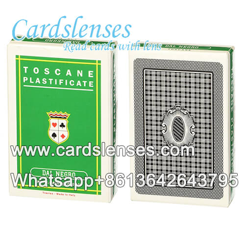 Infrared barcode marking Dal Negro poker cards