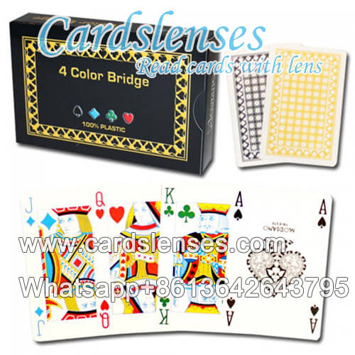baraja marcada Modiano 4 colores tarjetas plástica
