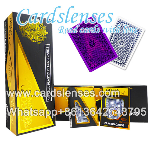korea gold plastic marked deck juice cards