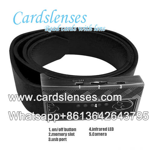 leather belt invisible ink barcode cards camera