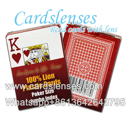 professional marked cards of Lion plastic cards