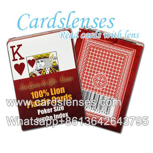 baralho marcado profissional do Lion cartões de plástico